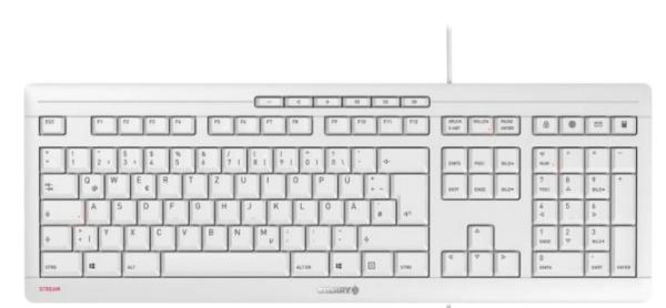 CHERRY TAS STREAM KEYBOARD grau Europa-Layout