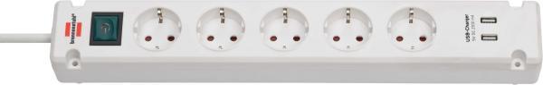 Steckdosenleiste Brennenstuhl Bremounta 5fach+USB weiß 3m