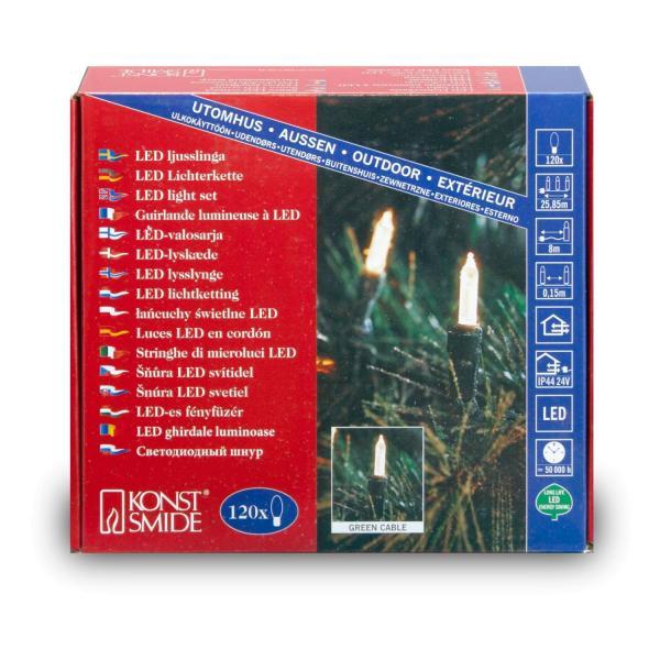 Gnosjö Konstsmide GmbH LED-Lichterkette 6060-100 Mini 120er